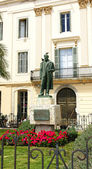 Sculpture of Santiago Rusiñol — 图库照片