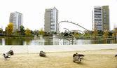Park of Diagonal Sea in Barcelona — Stock Photo