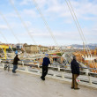 Observing from Calatrava's Bridge. — Stock Photo