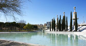 Pond of a park in Barcelona — Stock Photo
