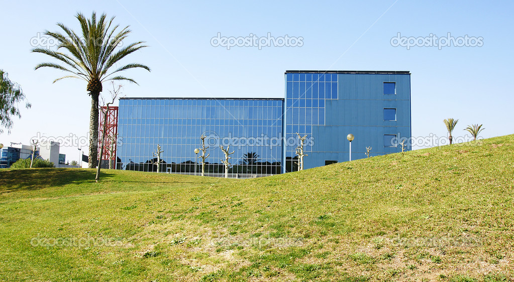 Modern office building in the Industrial estate Mas Blau of Barcelona  Stock Photo #9910806