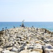 Stock Photo: Port Ginesta's breakwater in Castelldefels