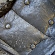 Pattern and surface of sofa leather with buttons — Stock Photo #9312114