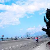 Bicyclist — Stock Photo