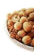 Nut în a white background — Stock Photo