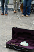 Street musicians — Stock Photo