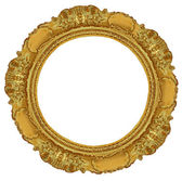Circle gold frame — Stock Photo