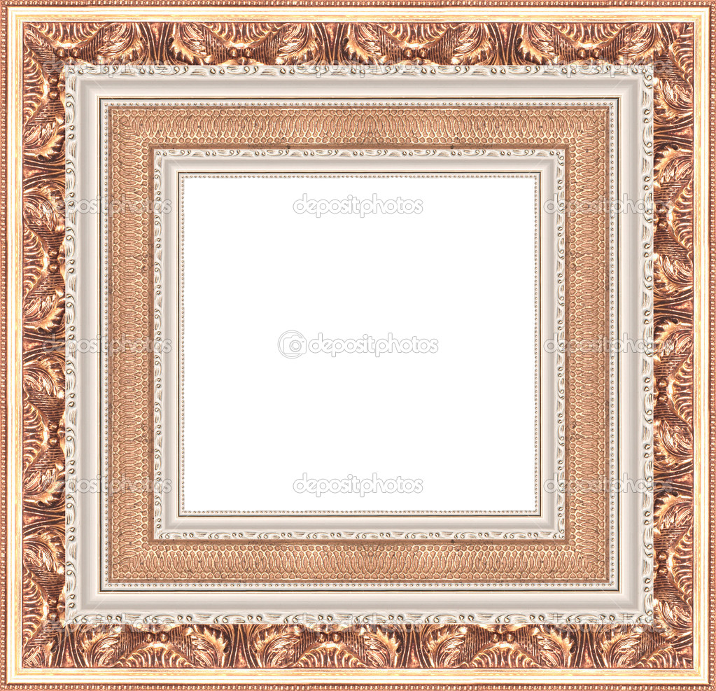 A picture frame on a white — Stock Photo #9508502