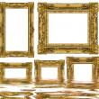 Gold frame — Foto Stock