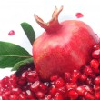 Grains  pomegranate - Stock Photo