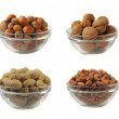 Stock Photo: Nuts on a white background
