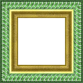 Silver frame — Stock Photo