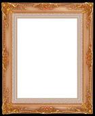 золотая рамка — Стоковое фото