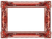 Red gold frame — Stock Photo