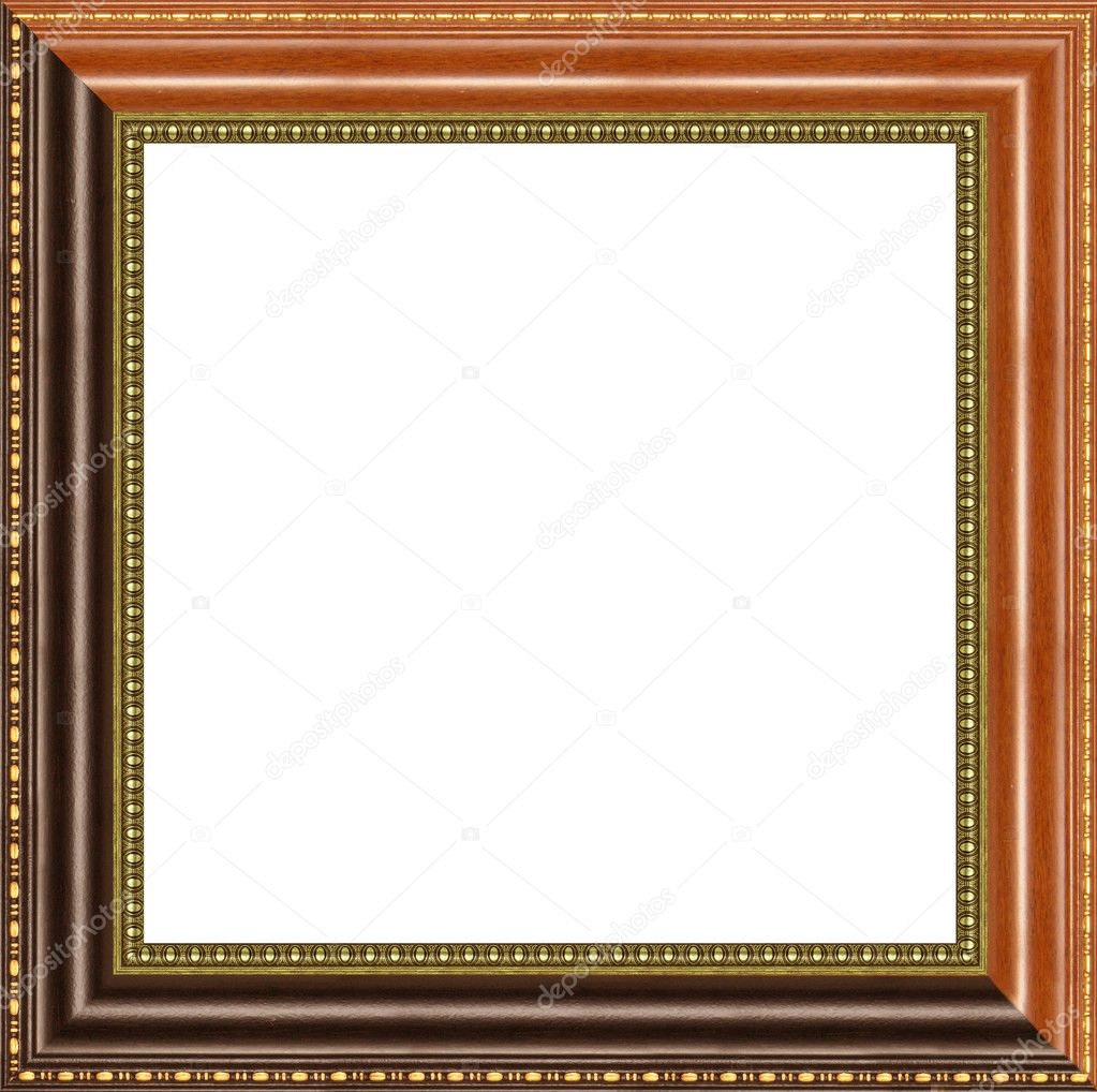 A picture frame on a white — Stock Photo #9512340