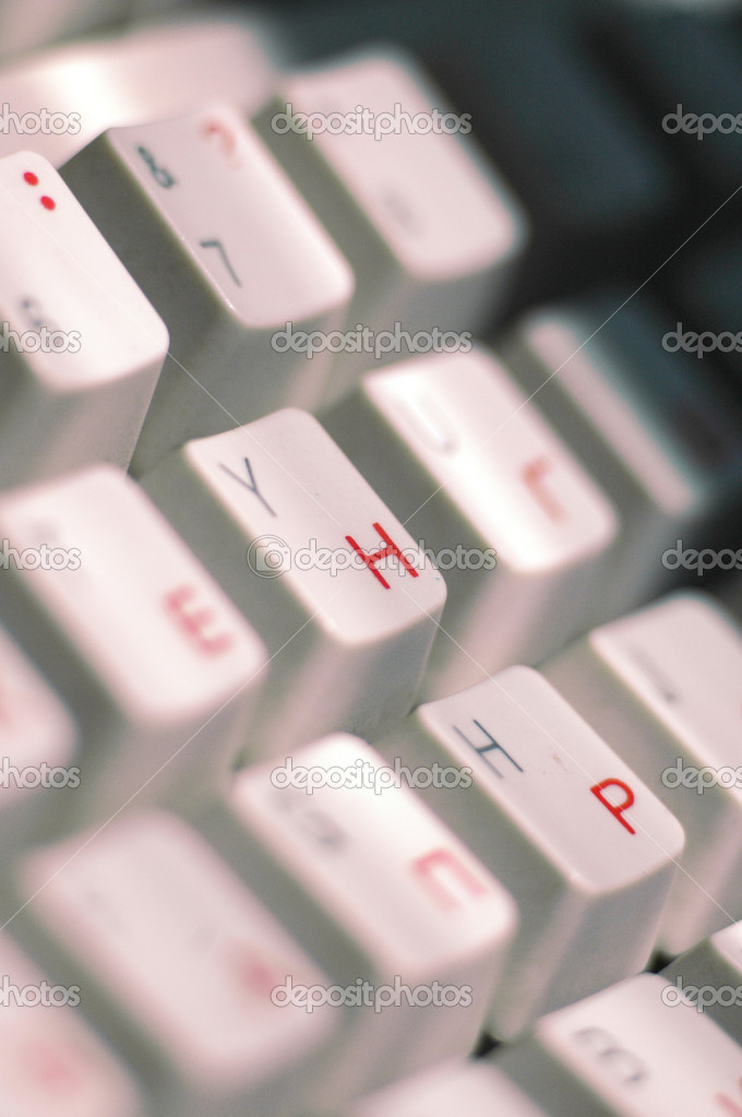 Fragment of the keyboard  Stock Photo #9516767