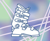 Ski boot — Stock Vector