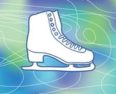 Ice-skate — Stock Vector