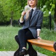 Girl sits in park — Stock Photo #8777714