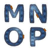 Denim MNOP — Stock Vector