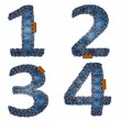 Royalty-Free Stock Vector Image: Denim numbers