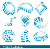 Blue logo collection — Stock Vector