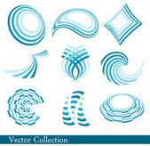 Blue logo collection — Stock Vector