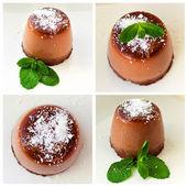 Chocolate pannacotta set — Stock Photo