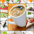 Cheese cake collage - Foto Stock