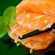 salmon sashimi — Stock Photo #8914573