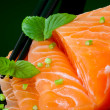 salmon sashimi — Stock Photo #8914593