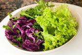 Salata kabı üzerindeki — Stok fotoğraf