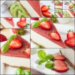 Cheesecake collage — Stock Photo