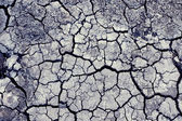 Chaotic cracks on dry land — Stock Photo