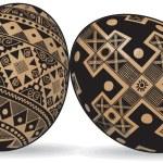 2 Easter Eggs — Stock Vector
