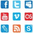 Vector de stock : Social media icon color