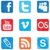 Social media icon color — Stock Vector