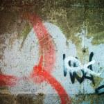 Abstract graffiti on the wall — Stock Photo