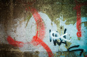 Abstract graffiti on the wall — 图库照片