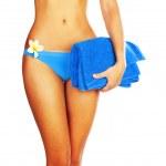 dokonalá žena tělo v bikinách — Stock fotografie