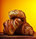 Fresh croissants — Stock Photo