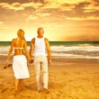 Happy couple on the beach — Stock Photo #10582574