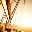 Sailboat on sunset — Stock Photo