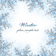 Snowflake decorative frame — Stockfoto #8016385