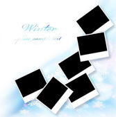 Blank picture frames border — Stock Photo