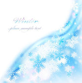 Abstract snowflake border — Stock Photo