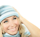 Cute girl wearing winter hat — Stock Photo
