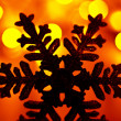 Snowflake Christmas tree decoration — Stock Photo