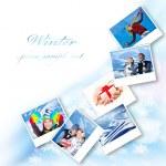 Winter photo collage — Stock Photo
