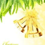 Boże Narodzenie drzewo dzwony granica — Zdjęcie stockowe